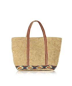 Vanessa Bruno | Medium Cabas Tote Bag W/Maya Embroidered Band