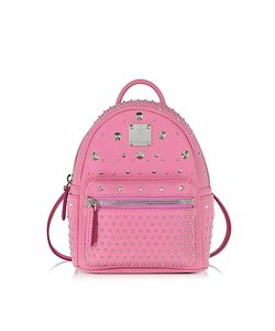 MCM   Stark Special Bebe Boo Chateau Rose Leather Backpack