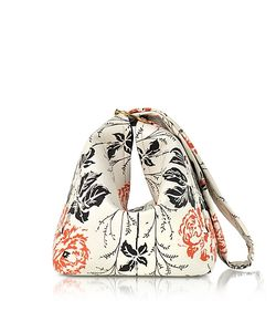 Victoria Beckham   Flower Printed Leather Tissue Bag