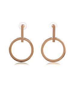 Vita Fede | Antonia Rose Tone Hoop Earrings