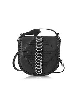 Alexander Wang | Mini Lia Woven Leather Shoulder Bag W/Rings