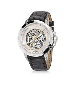 Maserati   Ingegno Tone Stainless Steel Case And Embossed Leather Strap
