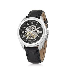 Maserati   Traguardo Tone Stainless Steel Case And Embossed Leather Strap