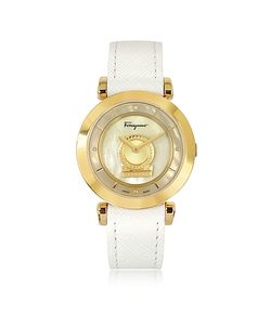 Salvatore Ferragamo | Minuetto Ip Stainless Steel Case And Leather Strap
