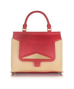 Vionnet   Mosaic 30 Colorblock Leather Ayers Medium Satchel Bag W/Shoulder