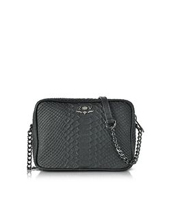 Zadig & Voltaire | Embossed Leather Boxy Cobra Crossbody Bag