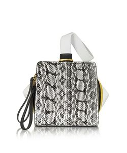 Vionnet   Leather And Ayers Cube Clutch