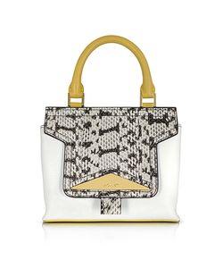 Vionnet   Mosaic 20 Leather Elaphe Mini Satchel Bag W/Shoulder Strap