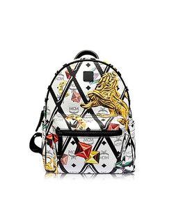 MCM   Stark Motif Rombi Small Backpack