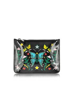 Mary Katrantzou | Graphic Butterfly Nappa Leather Pouch