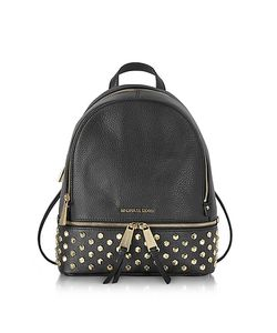 Michael Kors | Rhea Zip Leather Medium Backpack W/Studs