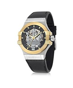 Maserati   Potenza Two Tone Stainless Steel Case And Leather Strap