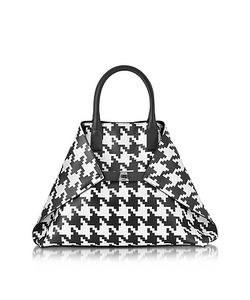 Akris | Ai Medium And Pied De Poule Printed Leather Tote