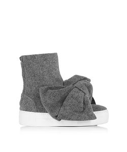 Joshua Sanders | Melange High Top Bow Sneakers