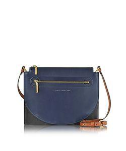 Victoria Beckham   Color Block Leather Moon Light Crossbody Bag
