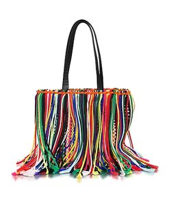 Emilio Pucci | Fringed Knot Canvas Tote