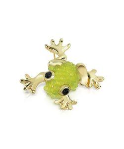 AZ Collection   Light Frog Brooch
