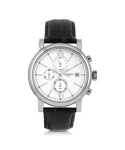 Forzieri   Baviera Tone Stainless Steel Case And Embossed Leather