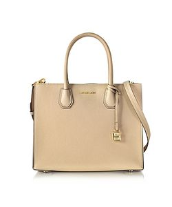Michael Kors   Mercer Large Oyster Pebble Leather Convertible Tote Bag