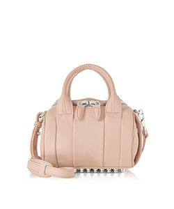 Alexander Wang | Mini Rockie Pale Pebbled Leather Satchel