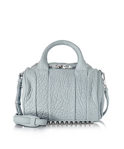 Alexander Wang | Rockie Powder Pebbled Leather Satchel W/Studs