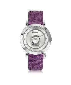 Salvatore Ferragamo | Minuetto Tone Stainless Steel Case And Leather Strap