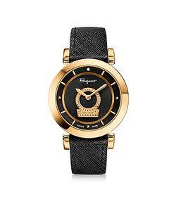 Salvatore Ferragamo | Minuetto Ip Stainless Steel Watch W Saffiano Leather Strap