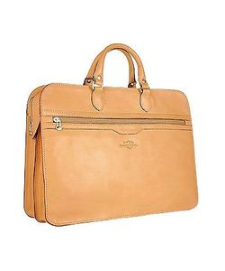 Robe di Firenze | Double-Gusset Soft Leather Briefcase