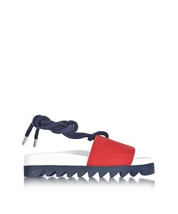 Joshua Sanders | Canvas Sailor Flatform Sandals