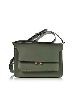 Marni | Thyme And Lily Leather Medium Trunk Bag