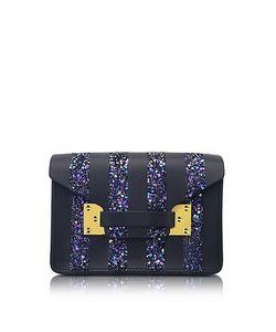 Sophie Hulme | Navy Glitter Milner Nano Envelope Bag