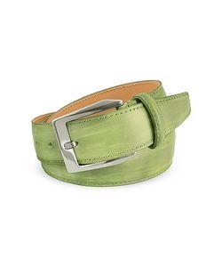 Pakerson | Pistachio Hand Painted Italian Leather Belt