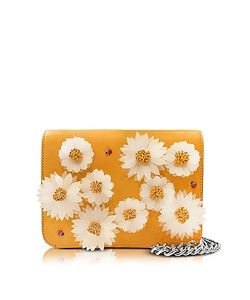 Charlotte Olympia | Sinatra Sunshine Leather Purse W/Chain