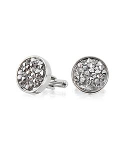 Forzieri | Lumiere Crystal And Brass Round Cufflinks