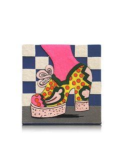 Olympia Le-Tan | Polka Dot Shoe Coated Brass Book Clutch
