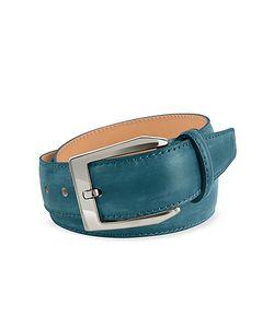 Pakerson | Petrol Hand Painted Italian Leather Belt