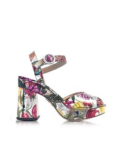 Charlotte Olympia | Into The Wild Fruit Salad Print Platform Sandal