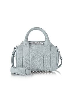 Alexander Wang | Mini Rockie Powder Pebbled Leather Satchel