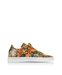 Cesare Paciotti | Pin Up Printed Leather Low Top Sneaker