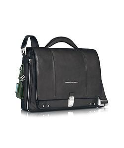 Piquadro | Link Slim 15 Laptop Expandable Messenger Bag