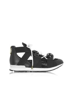 Vionnet | Leather And Elaph Pon Pon Sneakers