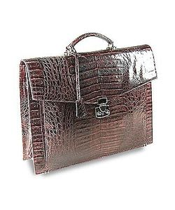 Fontanelli | Croc-Embossed Briefcase