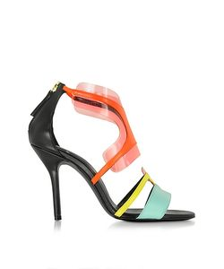 Pierre Hardy   Multi Pool Shades Leather And Pvc Sandal