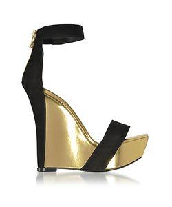 Balmain | Samara Suede And Leather Wedge Sandal