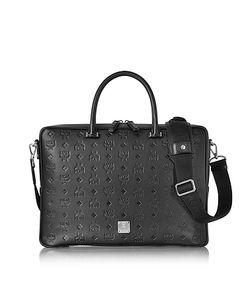 MCM | Ottomar Monogram Leather Medium Briefcase