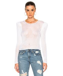 Ryan Roche | Open Knit Sweater With Long Puff Sleeves