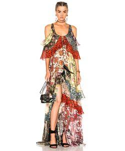 Roberto Cavalli   Tiered Ruffle Dress