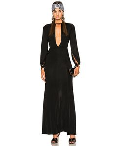 Alessandra Rich | Jersey Deep V Gown