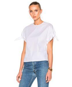 Rosetta Getty | Cotton Poplin Wrap Sleeve Shirt