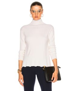 Ryan Roche | T-Neck Bottom Ruffle Sweater